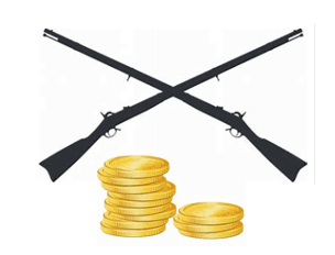coin and gun