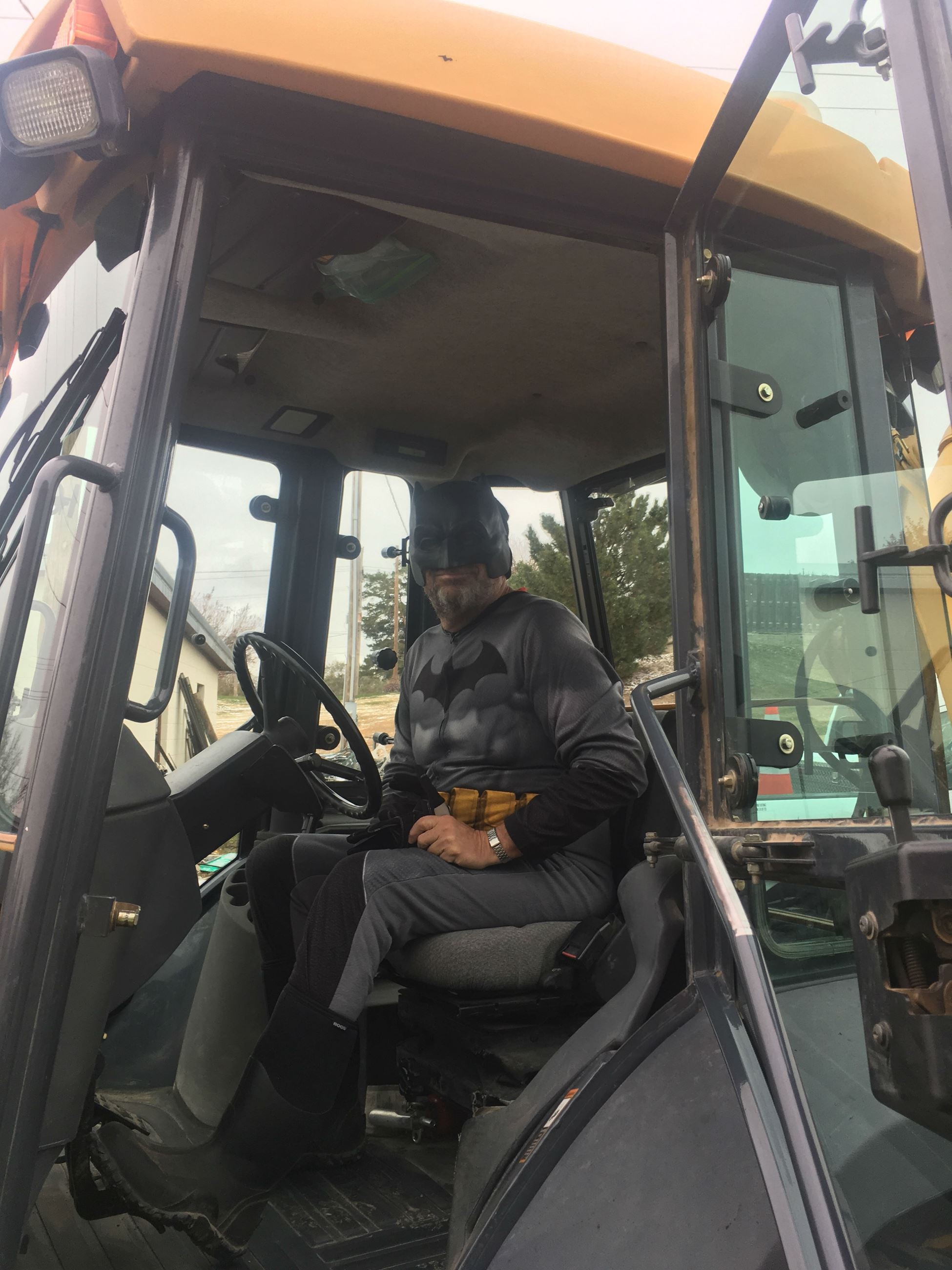 Batman working