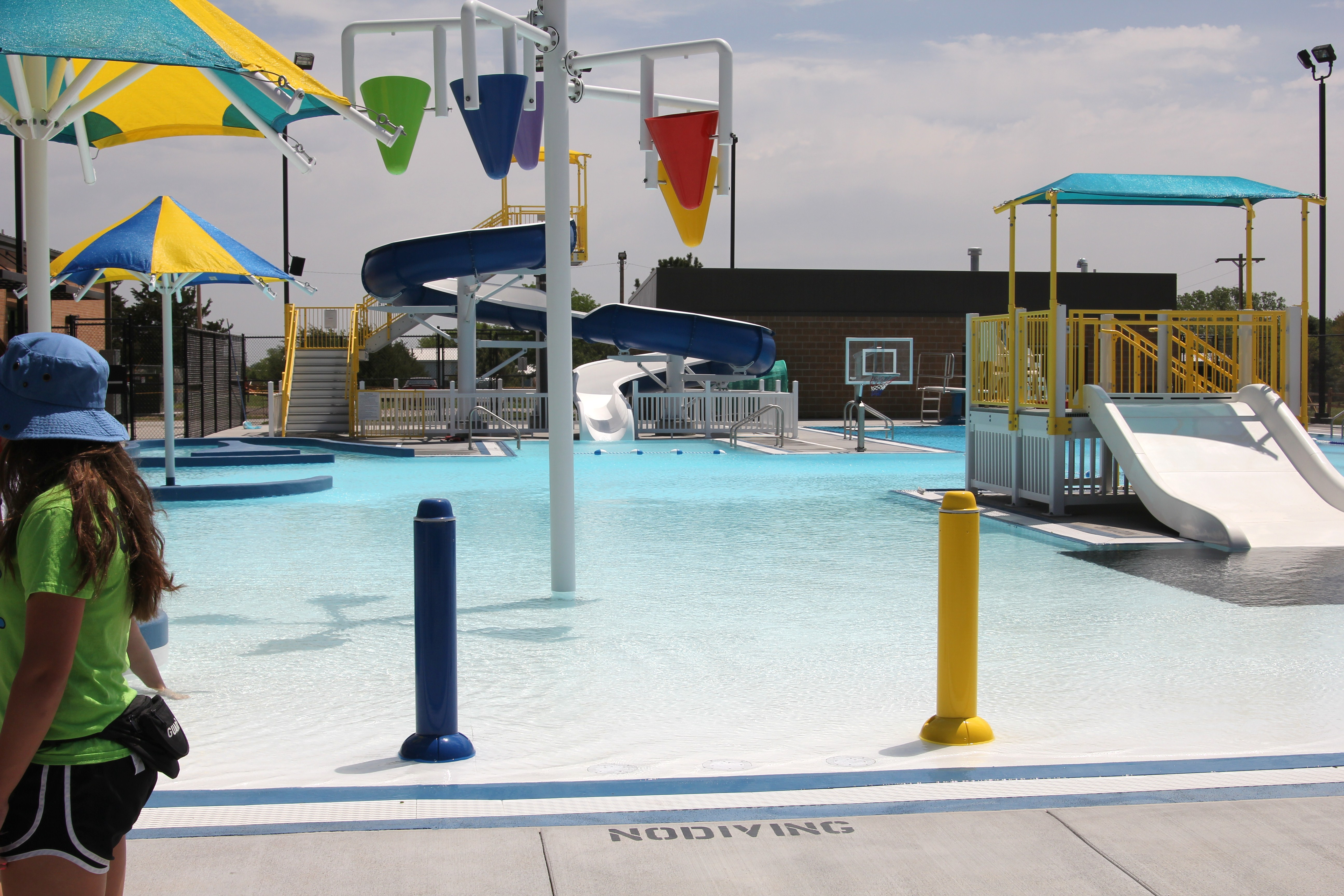 The outdoor pool at the Aquatic Center