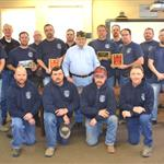 City of Phillipsburg & Phillips County Rural Fire District #1 Firemen with VFW Post #8873 Chairman JT Plummer